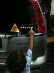 A. Story Behind The attaching the Logo sticker